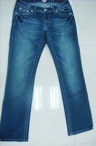 Cinco bolsillos Boot Cut bordado en bolsillo Jeans (nil)