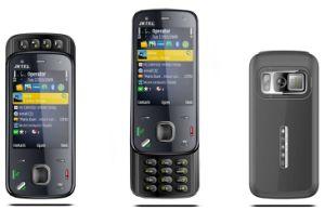 Telefono mobile dello scorrevole della carta doppia TV