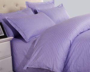 卸し売り工場価格は縞の綿の寝具を小売商のためにセットされて着色した