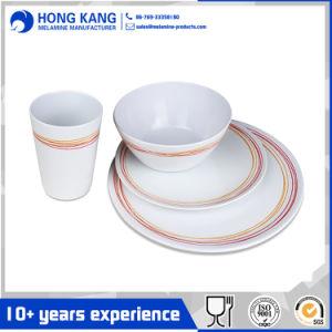 Logo personnalisé Multicolor vaisselle dîner ensemble plaque de mélamine