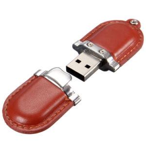 Высокое качество оптовой флэш-накопитель USB 2.0 из натуральной кожи