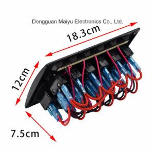 Interruttore W/Lens del comitato dell'attuatore del LED per la barca marina 12-24V