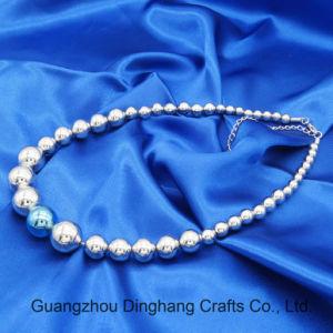 Juwelen 6mm/8mm/12mm/16mm van de manier de Plastic Juwelen van de Halsband van de Ketting van Parels Silver&Blue