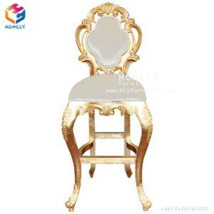 Chairs Hotel Queen優雅なステンレス鋼のローズの金カラーフレームの結婚式の家具王