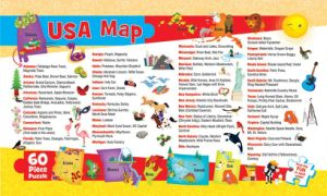 Sonde scherzt USA-Karte 60 das Stück-Kind-Puzzlespiel