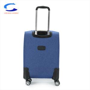 24'' azul Venta Directa de Fábrica de nylon ligero Softside llevar equipaje en Aeropuerto Spinner Maleta de Viaje