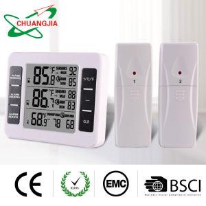 Indoor Wireless Outdoor nevera Termómetro digital con alarma sonora para congelador