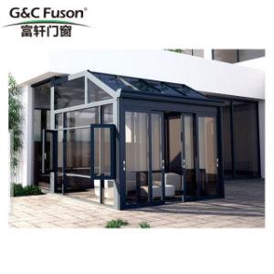 Het thermische Onderbreking Gelamineerde Frame Sunroom van het Aluminium van het Glas