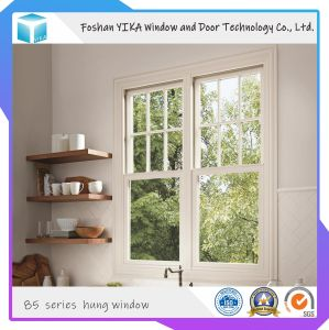 Foshan Yika Vertically-Movable aluminio vidrio doble ventana para la construcción de alta