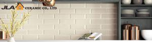 De de beige Schil van 4X16inch/10X40cm en Tegel van de Muur van het Bamboe van de Tegel van de Muur van Backsplash van de Stok