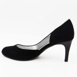 Borde Non-Covered mujer zapatos de tacón alto con la parte superior de terciopelo