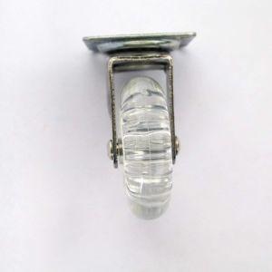 3 polegadas sem Freio do Rodízio Giratório transparente