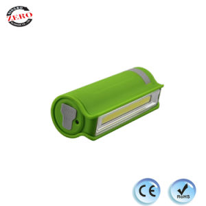ABS stylo rechargeable en caoutchouc COB LED d'inspection avec la Banque d'alimentation des feux de travail