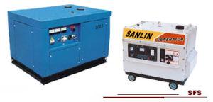 Низкий уровень шума однофазные дизельные генераторы (SFS)