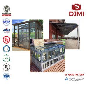Nouveau design véranda en verre préfabriqué en aluminium Chambre Jardin d'hiver moderne de ciment auto-nivellement des dalles de béton préfabriqué