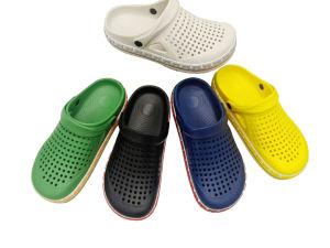 Estilo escaldantes homens EVA Jardim sapatos e sandálias chinelos (HB20304-7)