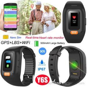 Smart impermeável IP67 Bracelete Sênior Rastreador GPS com monitor de ritmo cardíaco