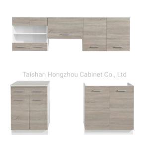 China hizo moderno paquete plano contrachapado kitchen cabinet