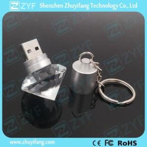 Diamond духи формы цепочки ключей кристально чистый флэш-накопитель USB (ZYF1525)