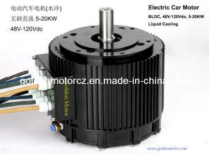 10kw motor del coche eléctrico DC sin escobillas para los coches eléctricos refrigeración por líquido CE