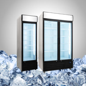 飲み物の表示および昇進のための明確なドア冷却装置
