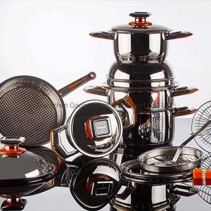 Qana Hot vender 19HP defina Panelas com aço inoxidável 3 ply panela para Cozinhar caçarola incluindo