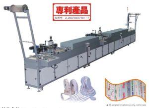etc.가 의복, 부대에 기계 3D 실리콘 인쇄 기계를 인쇄하는 레이블에 의하여, 구두를 신긴다