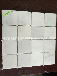 Promoción de la Barata de China diamante pulido azulejos de mármol blanco