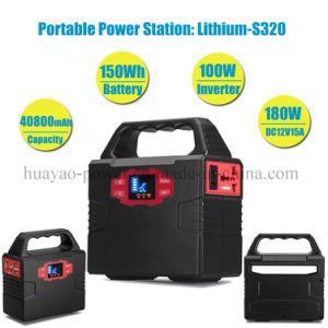 40800mAh/150Wh Inicio generador solar Fuente de alimentación Fuente de alimentación con iluminación LED