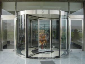 Exhibition Boxの建物Entrance Use Four-Wing Automatic Revolving Door