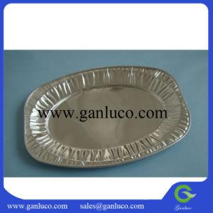 La plaque d'aliments d'aluminium à usage unique