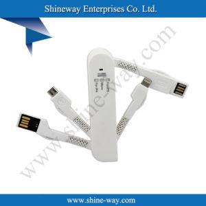 Привод Вспышки USB Ожидании Патента Многофункциональный USB-данных с / Зарядный Кабель Складная для IPhone и Android Смартфонов