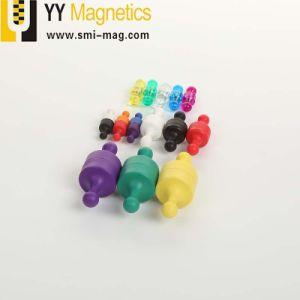 プラスチックカバーネオジムの磁石押しPinのオフィスの磁石