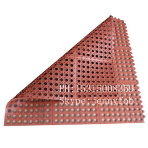 ゴム製スリップ防止およびAnti-Fatigue連結の多孔性のゴム製床のマット
