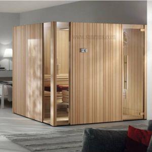 Luxuriöser hölzerner trockener Sauna-Raum (SF1M001)