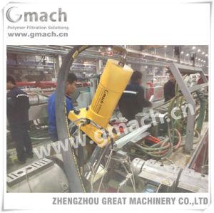 Deux positions de travail pour l'Extrusion du changeur d'écran hydraulique de la machine