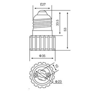 E27 Kontaktbuchse-dem Adapter zur Glühlampe-GU10