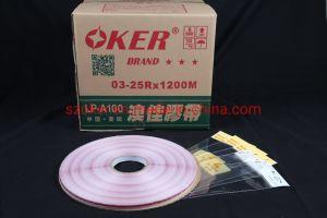 Oker 9/3/4,5 mm de HDPE Bolsa adhesiva cinta de sellado con la línea roja de la impresión de la bolsa de OPP