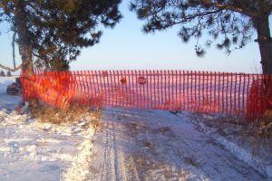 良質1X50yardのオレンジHDPEの安全塀(CC-SR070/080-10026)
