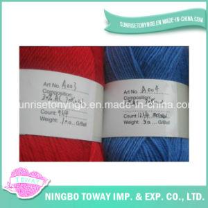 Filé de Laines Acrylique de Tricotage Bleu Rouge de Mélange de 9s/4 12s/4