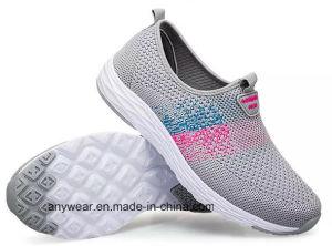 Confort deportivo Casual zapatos para correr de los hombres y mujeres con Flyknit superior (346)