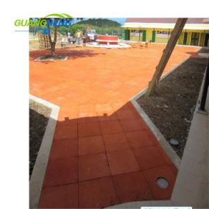 スリップ防止運動場の屋外の正方形のゴム製フロアーリングか体操の床のマット