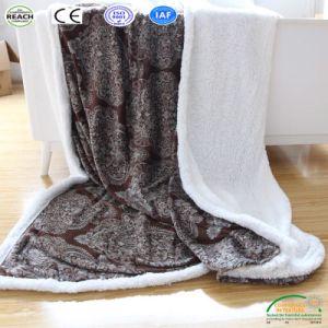 طباعة [شربا] بوليستر صوف سميك شتاء رمي غطاء مصنع
