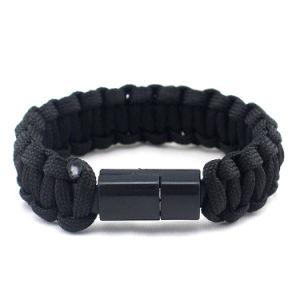 Il Tipo-c riga di dati di carico braccialetti Hand-Woven della corda dell'ombrello per le donne degli uomini trasporta i braccialetti della sopravvivenza esterna Ypf15 di Sette-Memoria dei monili