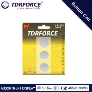 3V Cr Buttom сотовый литиевый аккумулятор с BSCI для Fidget вращатель (CR 2шт.)
