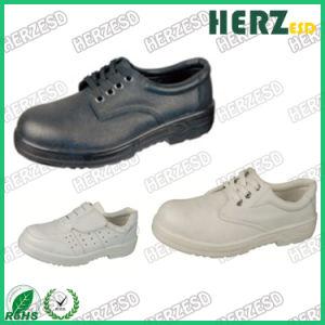 Sala limpia antiestático de cuero Zapatos de puntera de acero de PU