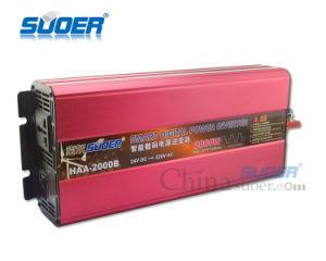 Suoer 디지털 표시 장치 변환장치 2000W 24V 태양 에너지 변환장치 (HAA-2000B)