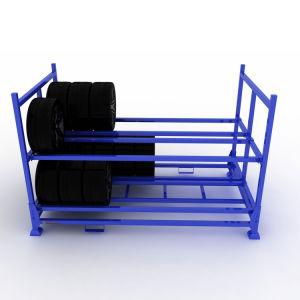 Entrepôt de stockage pliable d'empilage Tire Rack pour pneu TBR