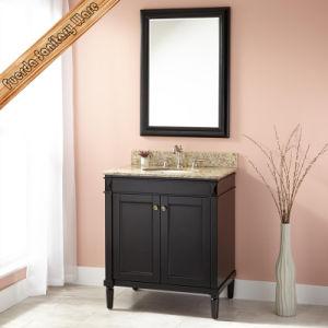 Тщета ванной комнаты раковины Cupc Espresso твердой древесины Fed-301b самомоднейшая