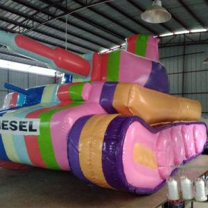 Customtarpaulin 팽창식 무지개 탱크 전시